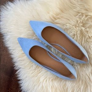 new!!! ASOS Baby Blue Faux Suede Flats